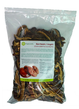 Dried Red Reishi Mushrooms (Ganoderma lucidum)