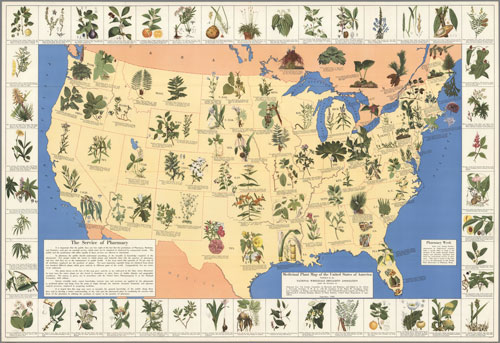 Map of Medicinal Plants of America